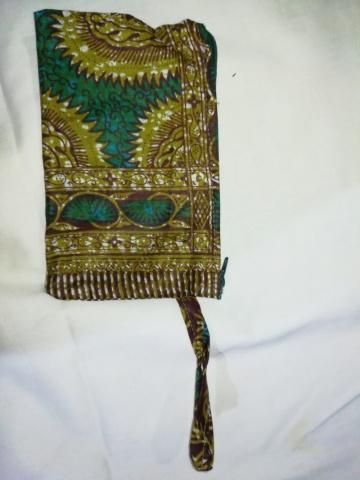Bolsa com tecido africano + postais