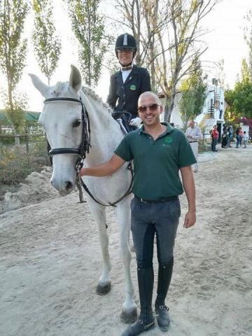 Foto com cavalo e cavaleiro de paradressage!