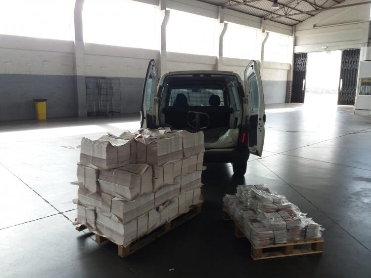 Distribuir 3000 exemplares tem um certo peso !!