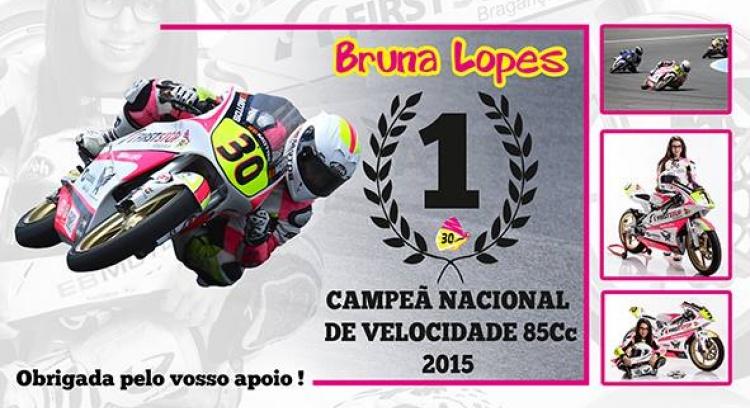 Bruna Lopes - A grande promessa brigantina do motociclismo -